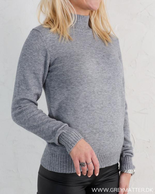Viril Grey Melange Turtleneck Knit