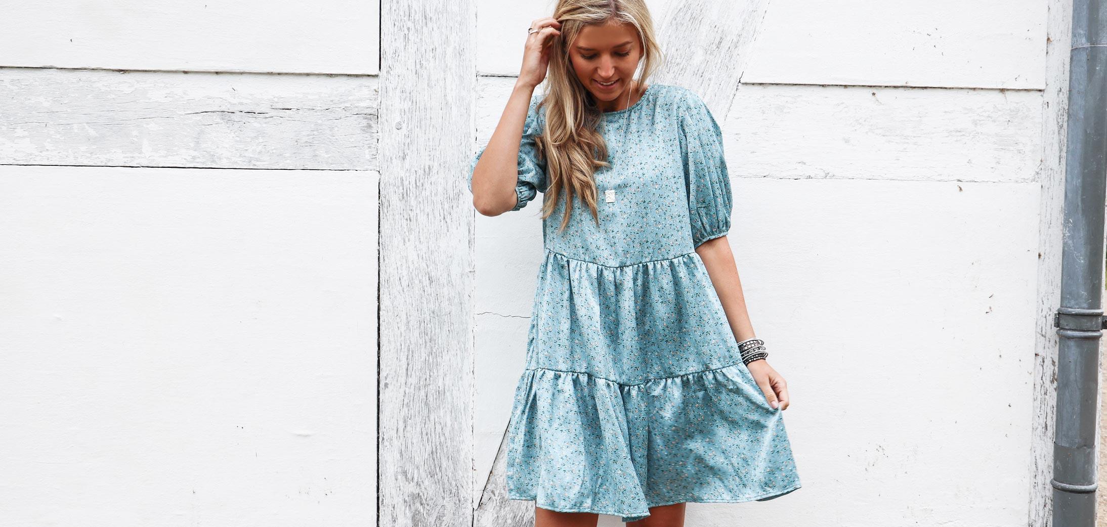 Kjole fra Vila med smukt print