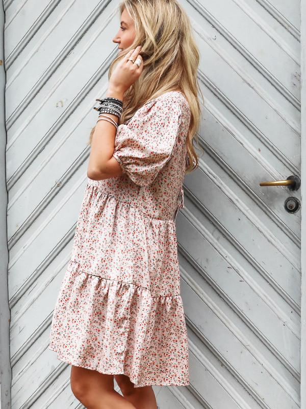 Vila kjole med blomsteprint