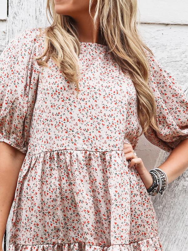 Vila kjoler med blomsterprint