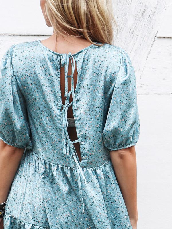 Vila kjole med print